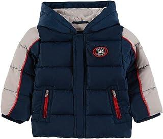 Kanz Chaqueta de invierno para chicos con capucha, manga corta, color azul