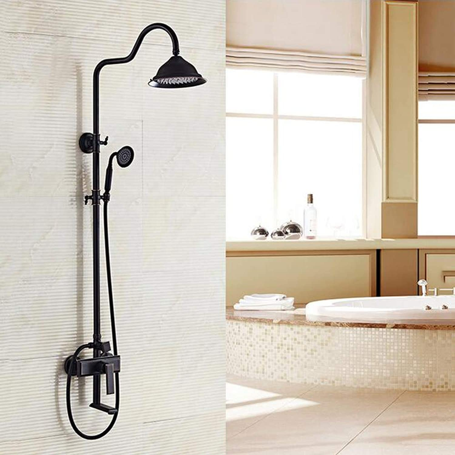 MICHEN Bathroom Luxury Rain Mixer Shower Combo Set Wall Mounted Rainfall Shower Head System
