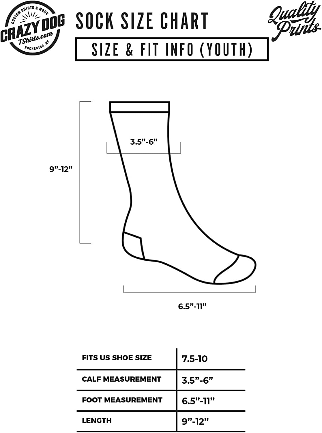 Youth Gaming Socks Funny Nerdy Video Game System Controller Novelty Footwear