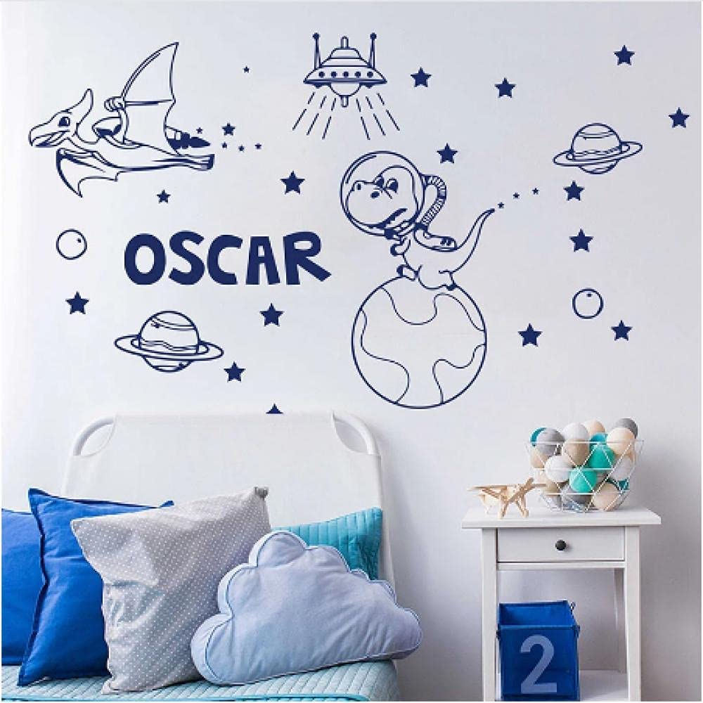 Xiaopang Personalized Name Year-end annual account Dinosaur Sticker Astronomy Space Many popular brands Wall