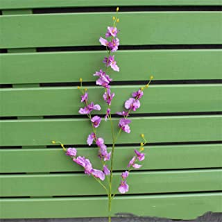 ZHHYJ Artificial Flower Artificial Orchid Flowers 5 Branch Silk Oncidium Hybridum Dancing-Doll Orchid