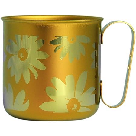 ホリエ チタンデザインマグカップ 花&葉 フラワー(オレンジ) TMA-206B