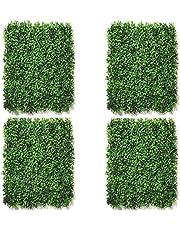 Festive Creations Artificial Grass Vertical Wall Small Leaves Tiles | Vertical Garden Wall Tiles (40 X 60 cm, Set of 4)