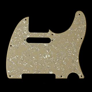 Replacement Guitar Pickguard For Standard Tele ,Single-ply Cream Pearloid