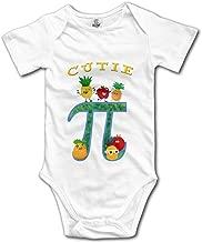 KingFong Math Short Sleeve Infant Baby Girl Clothes Onesies Bodysuit Romper Creeper Unisex