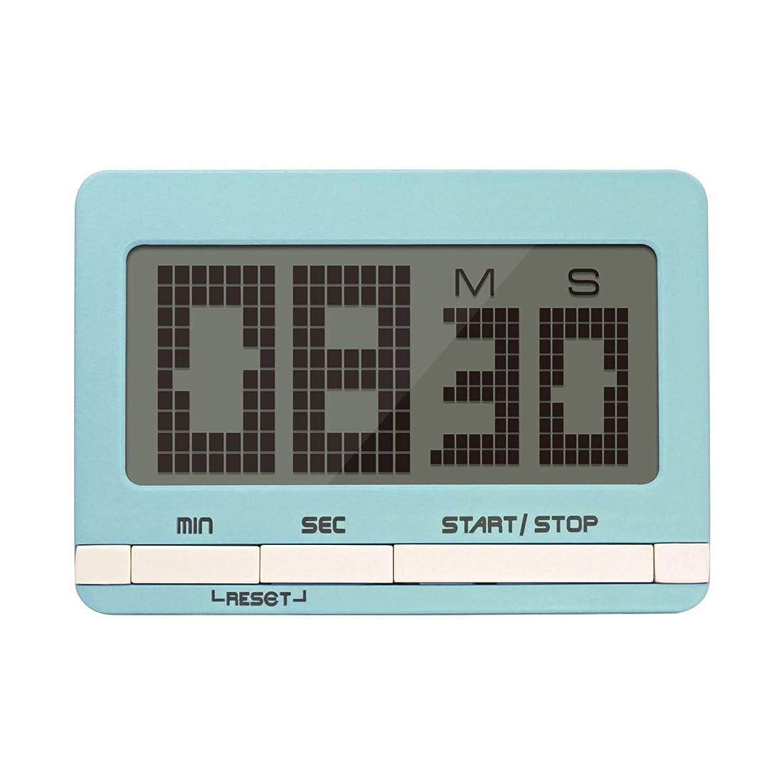 微視的日常的にキルス液晶タイマー、デジタルキッチンタイマー磁気カウントダウン付きストップウォッチタイマー付きラウドアラーム、ビッグディジット、バックスタンド、ハンギングホール (Color : Green0)