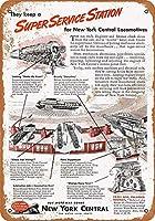 1945年ニューヨーク中央機関車のコレクターウォールアート