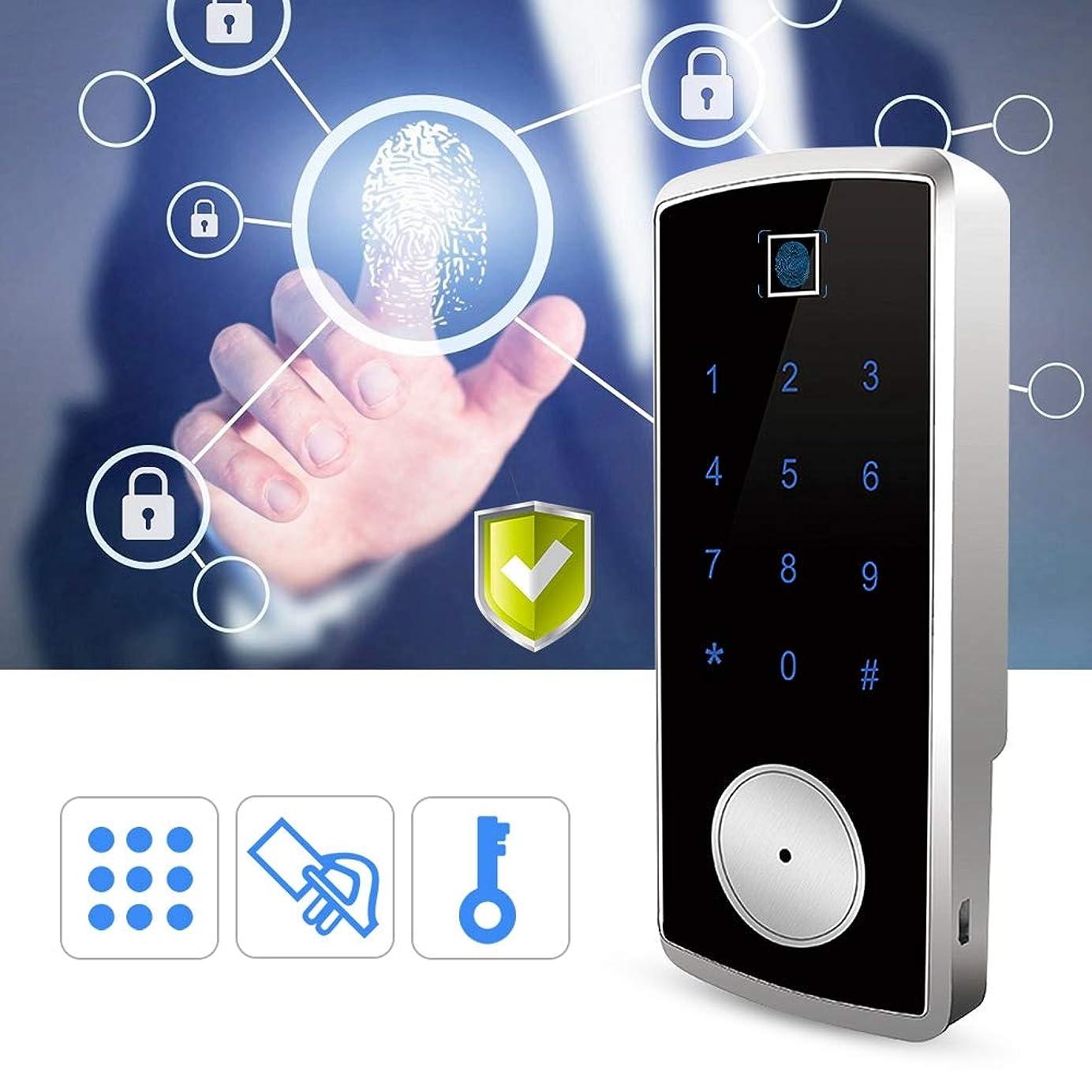 ソート水平関係生物測定の指紋のドアロック、電池なしのスマートな保証ICカードパスワード盗難防止ロック