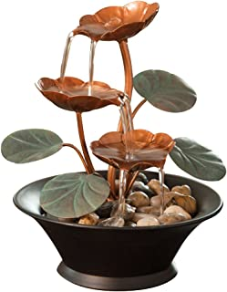 Best Bits and Pieces - Indoor Water Lily Water Fountain-Small Size Makes This A Perfect Tabletop Decoration - Compact and Lightweight Review