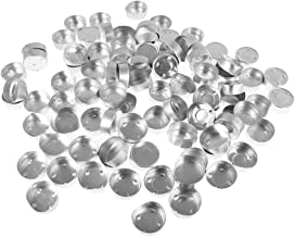 F Fityle 300 Pieces Round Aluminium Tea Light Cups Empty Case Candle Wax Containers Candle Mold Model DIY Jelly Gel Wax Ca...