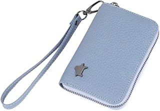 Aladin Genuine Leather Fox Customized Design Coin Purse Multifunction Coin Wallet Blue