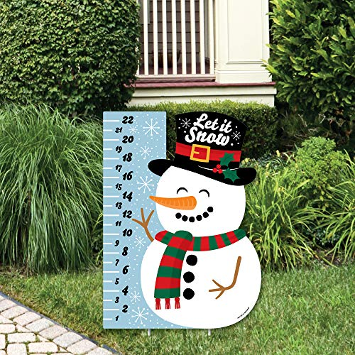 Big Dot of Happiness Snowman Snow Gauge - Party Decorations - Snow Measurement Welcome Yard Sign