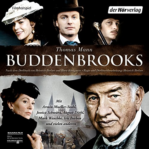 Buddenbrooks     Filmhörspiel              By:                                                                                                                                 Thomas Mann                               Narrated by:                                                                                                                                 Jessica Schwarz,                                                                                        Iris Berben,                                                                                        August Diehl,                   and others                 Length: 2 hrs and 53 mins     1 rating     Overall 5.0