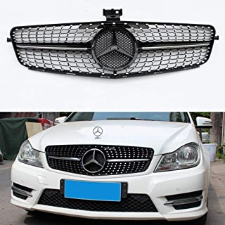 W204 diamond style grill front mesh grille for Mercedes C class W204 C300 2007-2014