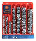 Koehler Enterprises KEDIS220 220 Piece Hose Clamp Set in Mountable Rack...