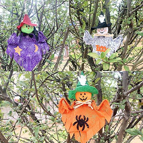 ハロウィン 飾り かかし お化け屋敷 装飾 小道具 ハロウィン グッズ 3d立体吊り飾り 魔女のかかしの人形装飾 雰囲気満点 怖い パーティー 装飾品 ホラーディスプレイ 学園祭 文化祭 人気 おもちゃ 3点セット