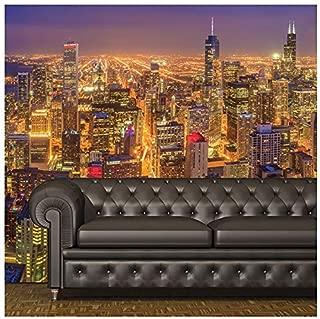 azutura Chicago Wall Mural Skyscraper City Skyline Photo Wallpaper Living Bedroom Decor Available in 8 Sizes Gigantic Digital