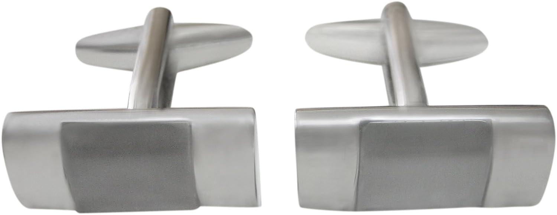 Kiola Designs White and Transparent Rectangular Cufflinks