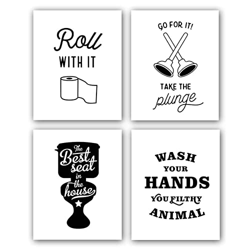 Funny Bathroom Art Posters: Amazon.com
