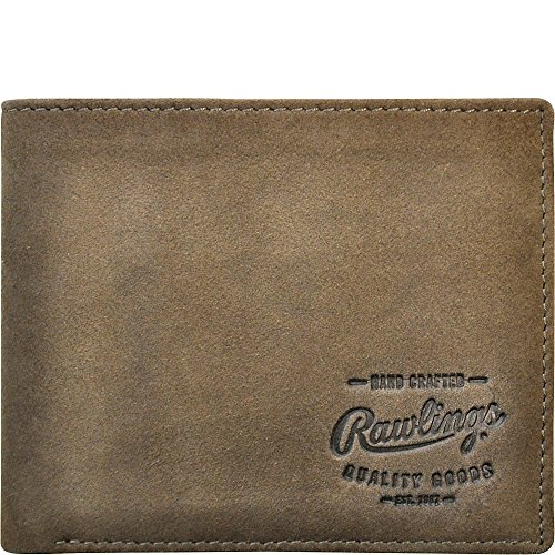 Rawlings Men's Double Steal Bifold, Brown, One Size