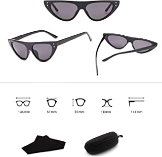 Sunglasses Fashion Accessories Cat Eye Clout Goggles Sunglasses Vintage Mod Style Retro 3281 (Color : Red)