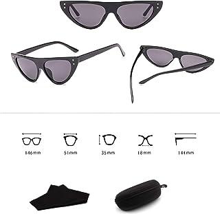 Sunglasses Fashion Accessories Cat Eye Clout Goggles Sunglasses Vintage Mod Style Retro 3281 (Color : White)