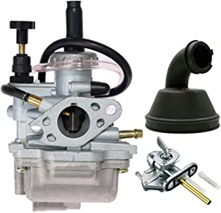 New Carburetor for 1987-2006 Suzuki LT80 Quadsport ATV Carburetor Carb With Air Cleaner Intake Boot+Fuel Gas Petcock Tank Valve Switch Pump,by LIYYOO