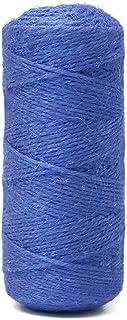 KINGLAKE 100m Juteschnur blau, 2mm Bastelschnur Blaue Packschnur für Geschenkverpackung, Dekoration