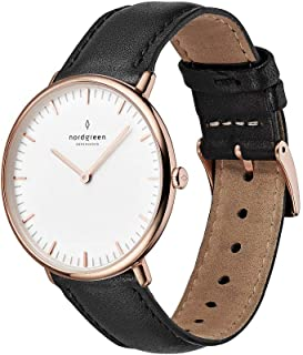 Native Scandinavian Rose Gold Analog Watch with Leather...