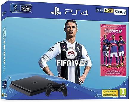 PlayStation 4 slim Bundle with FIFA 19 and dualshock Black