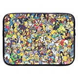 Laptop Sleeve Bag The Simpsons Tablet Briefcase Ultraportable Protective Canvas for 13 Inch MacBook Pro/MacBook Air/Notebook Computer,Includes The Same Pattern 10 X 12 Inch Mouse Pad
