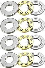 uxcell F7-15M Miniature Thrust Ball Bearings 7x15x5mm Chrome Steel 4pcs