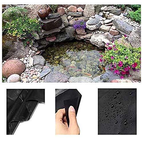 Teichfolienzuschnitt PVC Teichfolie Fischteich Liner Tuch Schwarz Hause Garten Pool Verstärkt HDPE Landschaftsbau Pool Teich Wasserdichte Liner, S20-0.2mm Stärke Mehrere Größen Erhältlich