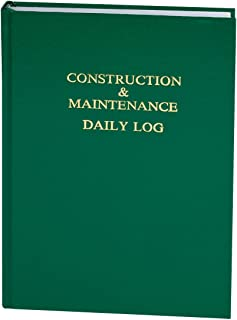 Construction & Maintenance Daily Log (7in. x 10in.)
