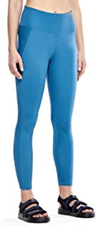 Non See-Through Mid Rise Athletic Compression Leggings for Women 7/8 Hugged Feeling Workout Running Tights-25 Inches