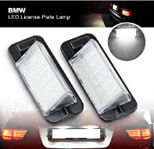 Car Led License Plate Light Lamp - NSLUMO Auto Rear Tag Light Assembly For BMW E36 3 series 1992~1998 Led Number Plate Lamp Direct Bulb Replacement