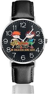 Rugrats Go Wild Elizabeth Daily Men Leather Strap Military Watches Women's Waterproof Sport Wrist Date Quartz Wristwatch Gifts