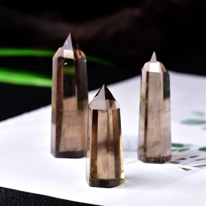 Gzkzmy Gemstones 1PC Natural Quartz Point Crystal Branded goods Stone Selling rankings Hexa Tea