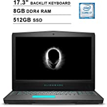2019 Dell Alienware 17 17.3 Inch FHD 1080P Gaming Laptop (8th Gen Inter 6-Core i7-8750H up to 4.1GHz, 8GB DDR4 RAM, 512GB SSD, NVIDIA GeForce GTX 1070 8GB, Backlit KB, Windows 10)