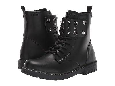 Geox Kids Jr Eclair 2 (Big Kid) (Black Oxford) Girls Shoes