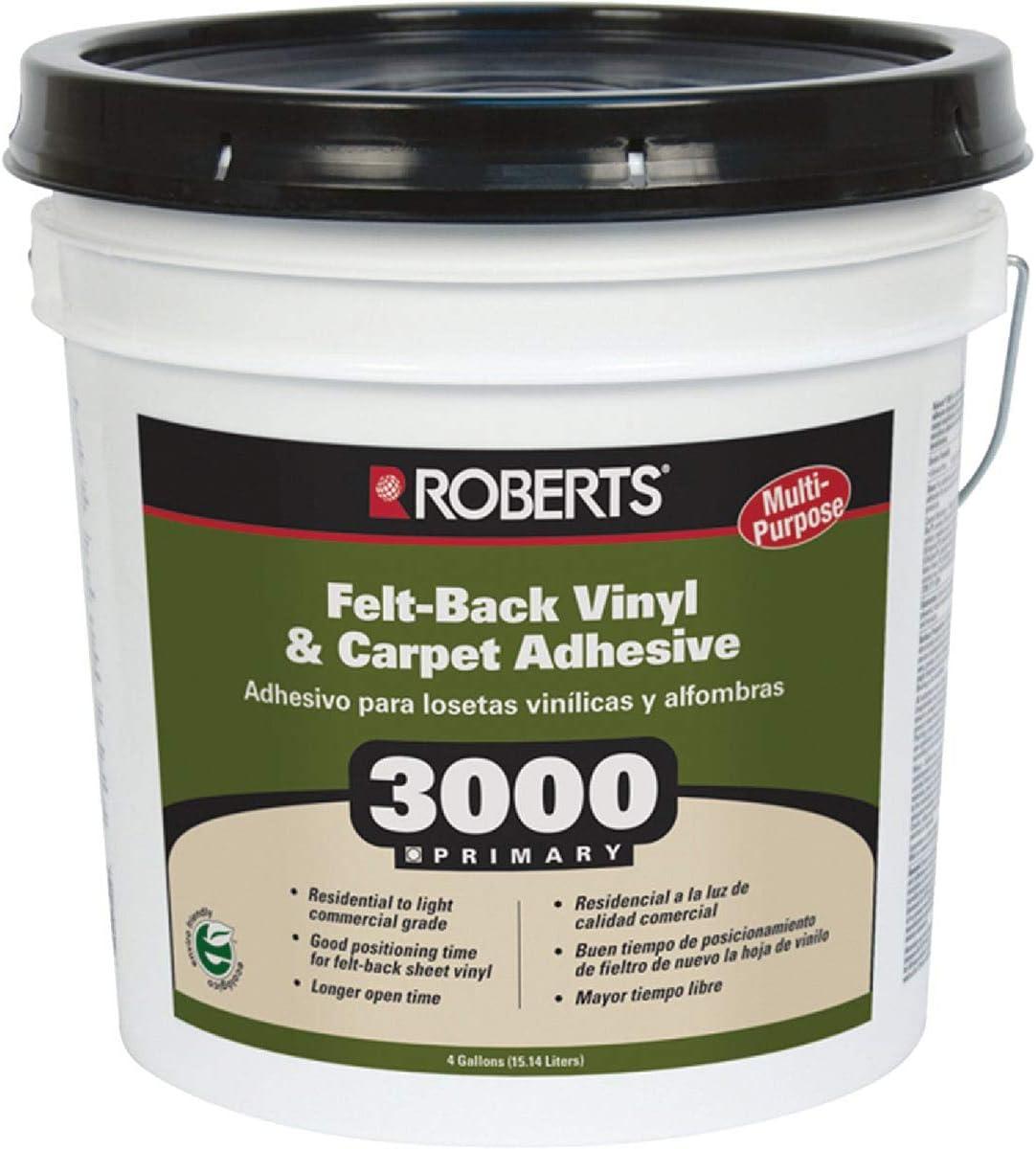 Roberts Q E P 3000-4 Floor Cover Adhesive Ing San Antonio Mall Max 45% OFF