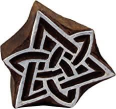 Celtic Triquetra Knot Indian Motif Wood Stamp Printing Blocks for Fabric Craft Clay Pottery Scrapbook Tattoo