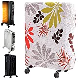 Oil-Filled Radiator Heater dust cover, Dust cover for household heater,Electric Heater Cover,Small Dust Cover For Space Heater,Moisture and Dust-Proof Portable Heater Covers (Green plants1, Larger)