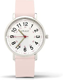 100% Silicone Band Nurse Watch - Nursing Watch Military Time - Quality Quartz Nurses Watch - Nurse Watches For Women - Analog Watch & Second Hand Watch - Elegant Nurses Watches For Women - Scrub Watch