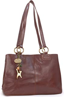 Women's Large Vintage Leather Tote/Shoulder Bag - BELLSTONE