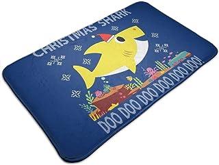 HUTTGIGH Baby Shark - Felpudo antideslizante para puerta de entrada de baño, alfombra de baño, cocina, 19,5 x 31,5 pulgada...