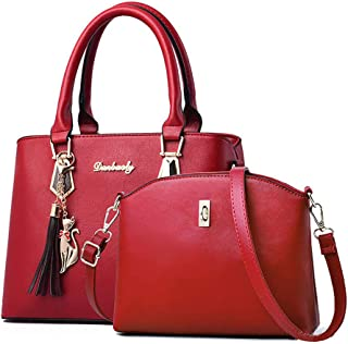 Fanspack Women Tote Bag Fashion Creative Tote Handbag Top Handle Bag with Crossbody Bag