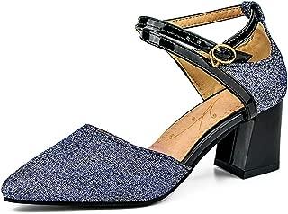 TAOFFEN Women Fashion Pumps Block Heel