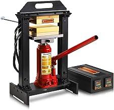 6 Ton Bottle Jack Heat Press Machine with Dual 3x5 Inch Heated Plates