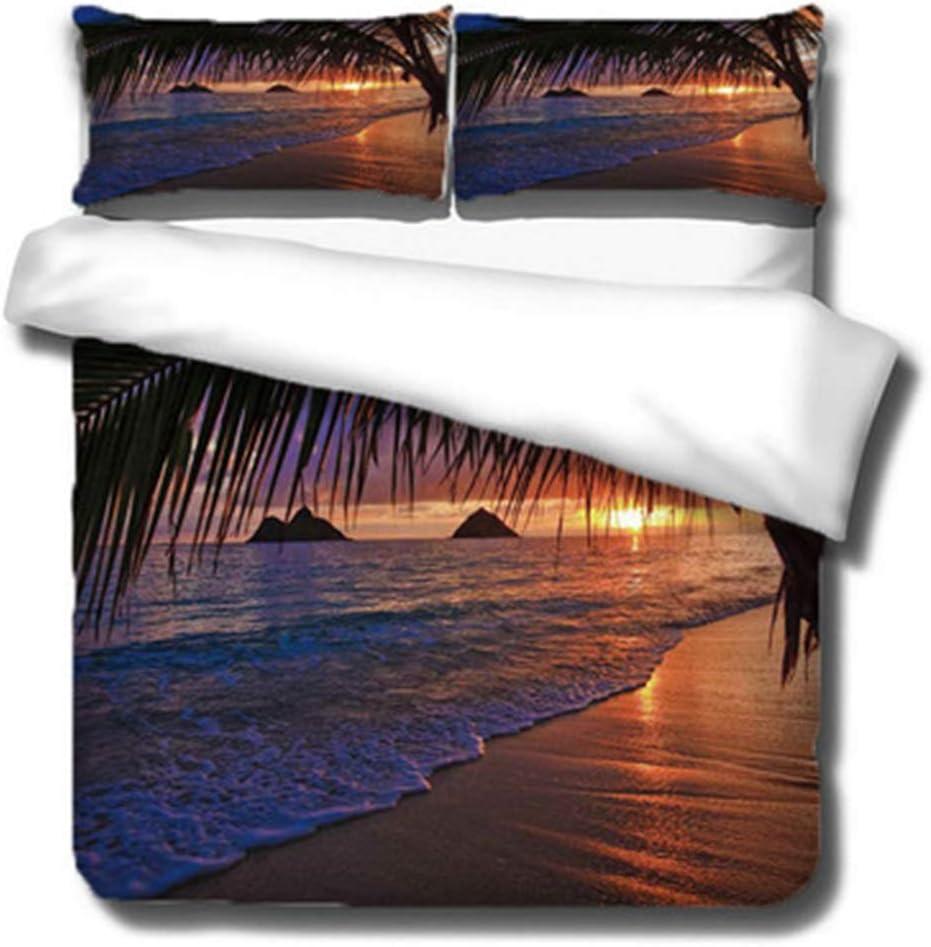 QSTF High order 3D Printed sea View Bedding Cotton D Night Max 54% OFF Theme 100%